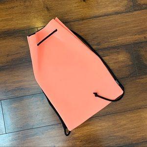 Triangl Orange neoprene drawstring bag